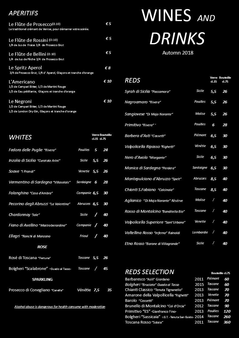 CARTE DE VINS AUTOMNE 2018 NOIRE ENG